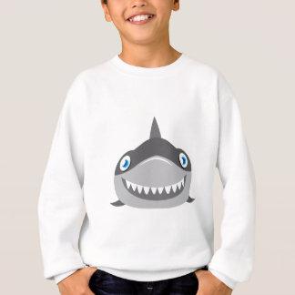 cute happy shark face sweatshirt