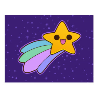 Cute Happy Shooting Star Post Card