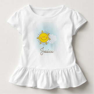 Cute Happy Smiley Sunshine Custom Add Your Name Toddler T-Shirt