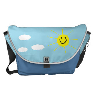 Cute Happy Smiling Sun Child Drawing Courier Bags