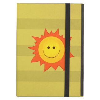 Cute Happy Smiling Sun Kickstand Case For iPad Air