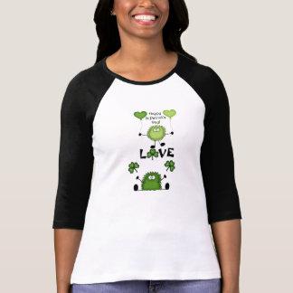 Cute Happy St Patrick's Day Fuzzies LOVE T-Shirt
