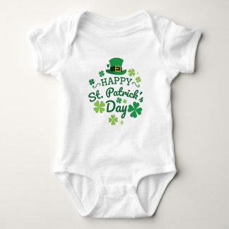 Cute Happy St. Patrick's Day Lucky Celebrate Print Baby Bodysuit