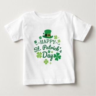 Cute Happy St. Patrick's Day Lucky Celebrate Print Baby T-Shirt