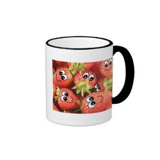 Cute Happy Strawberries Coffee Mug
