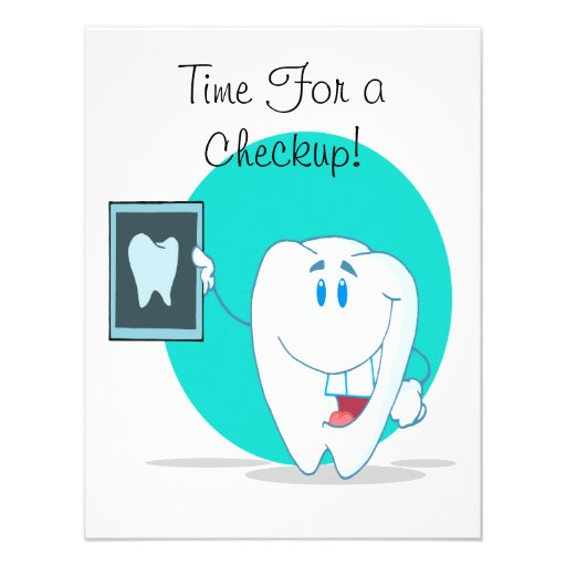 cute happy tooth character with clean xray announcements