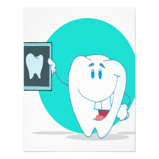 cute happy tooth character with clean xray custom invite