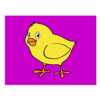Cute Happy Yellow Chick Postcard