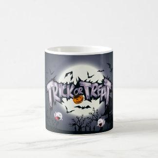 Cute haunted moon Trick or Treat ghostly pumpkin Coffee Mug