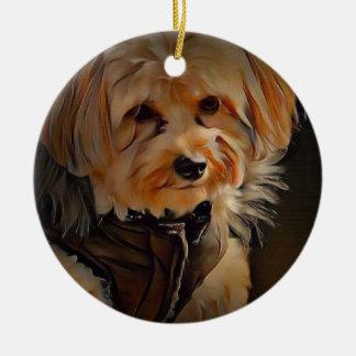 Cute Havapookie Christmas Ornament