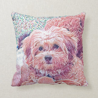 Cute havapookie puppy pillow
