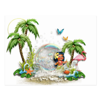 Cute Hawaiian Postcard