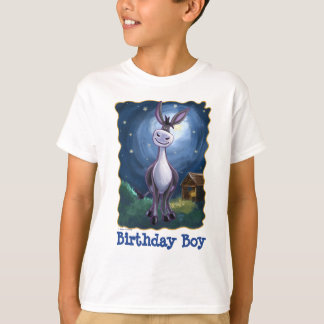 Cute Heads and Tails Donkey Birthday Boy T-Shirt