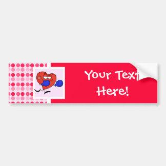 Cute Heart Boxing Bumper Sticker