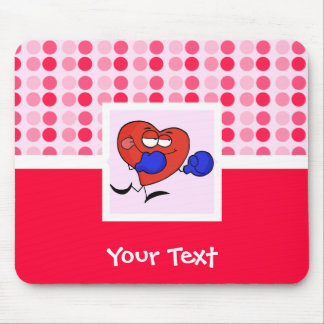 Cute Heart Boxing Mouse Pad