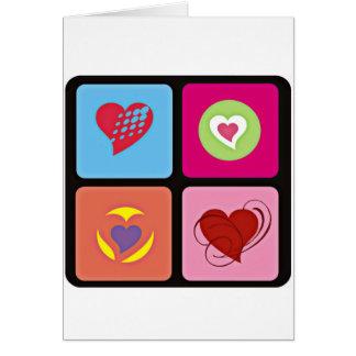 Cute Heart Cube Greeting Card