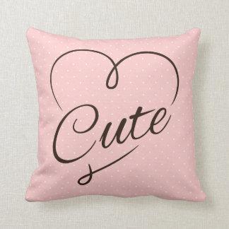 Cute Heart Doodle Throw Pillow