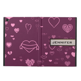 Cute Heart Elegant Modern Pink Purple Powis iPad Air 2 Case
