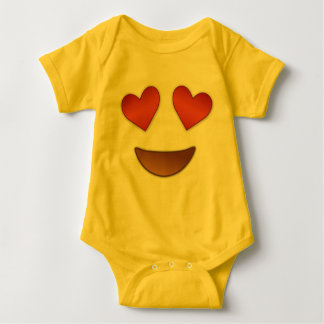 Cute Heart for Eyes emoji Baby Bodysuit