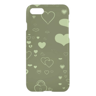 Cute Heart Modern Moss Green iPhone 8/7 Case