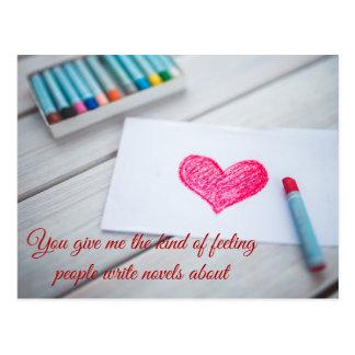 Cute Heart Note Postcard   Customizable Message