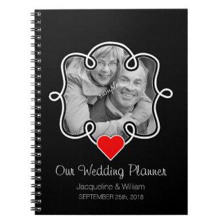 Cute Heart & Photo Couple Wedding Planner Notebooks