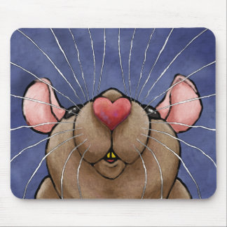 Cute Heart Rat Mousepad