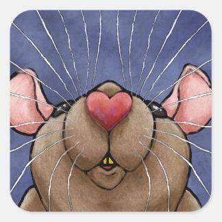Cute Heart Rat Sticker