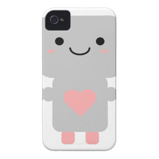 Cute Heart Robot Case-Mate iPhone 4 Case