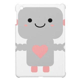 Cute Heart Robot iPad Mini Covers