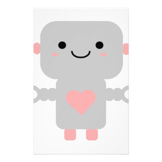 Cute Heart Robot Stationery