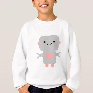 Cute Heart Robot Sweatshirt