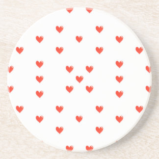 Cute Hearts Motif Pattern Coasters