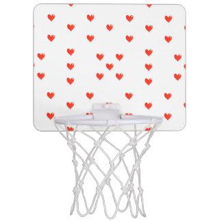 Cute Hearts Motif Pattern Mini Basketball Hoop