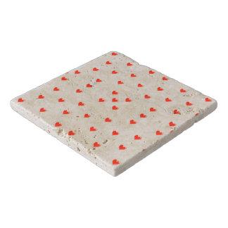 Cute Hearts Motif Pattern Trivet