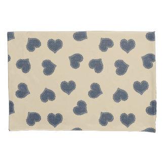 Cute Hearts Pattern Beige Add name  Pillow Case