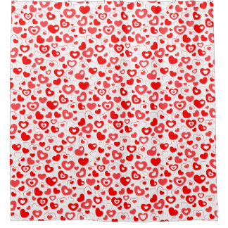 Cute Hearts Pattern Shower Curtain