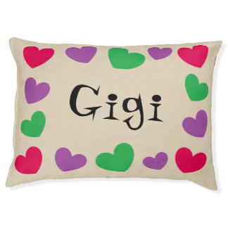 Cute Hearts Personalized Dog Bed