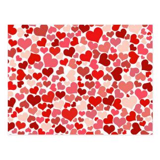 Cute Hearts Postcard