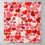 Cute Hearts Print