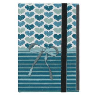 Cute Hearts  Stripes and Bow Cover For iPad Mini