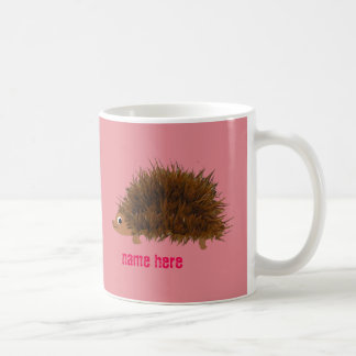 Cute Hedgehog add name Coffee Mug