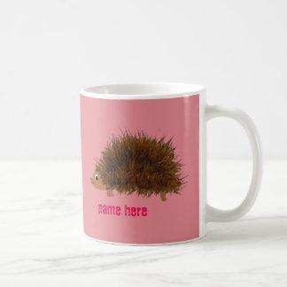 Cute Hedgehog add name Coffee Mug