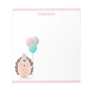 Cute Hedgehog Birthday Notepad