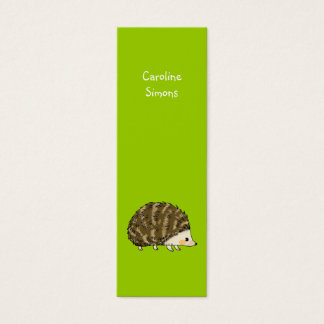 Cute hedgehog bookmark mini business card