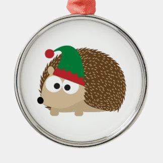 cute Hedgehog Christmas Elf Christmas Ornaments