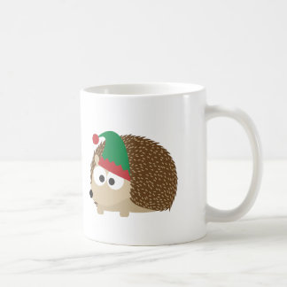 cute Hedgehog Christmas Elf Mug