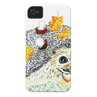 Cute Hedgehog Drawing Case-Mate iPhone 4 Case