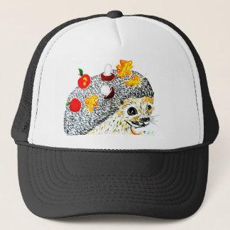 Cute Hedgehog Drawing Trucker Hat