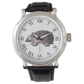 Cute Hedgehog Lover's Hedgie Vintage Print Watch
